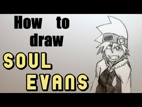 Ep. 115 How to draw Soul Evans from Soul Eater!