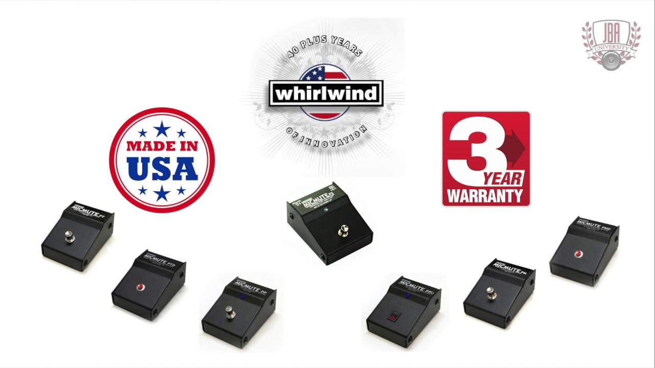 Whirlwind MicMute PTD Silent Passive Microphone Push to Talk Switching -  Desktop Version