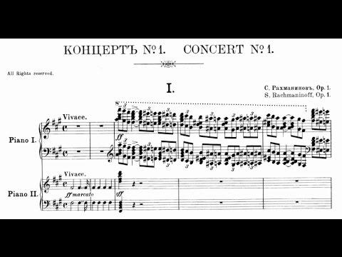 Rachmaninoff Piano Concerto 1 No. 1 in f-sharp minor, Op. 1 (Shelley)