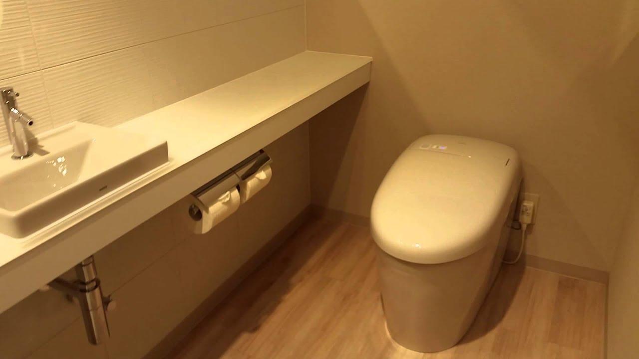 Automated toilets - Toto showroom Shinjuku - Tokyo, Japan - YouTube