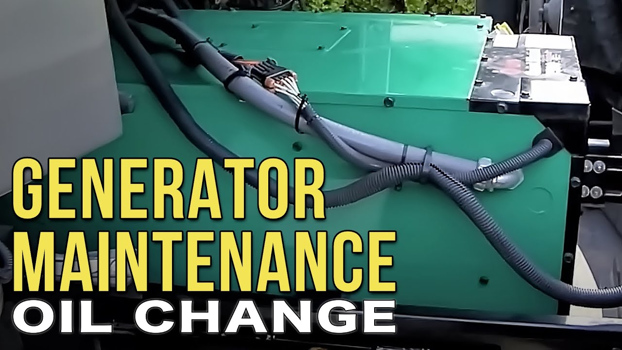 changing the oil in your onan diesel rv generator [ 1280 x 720 Pixel ]