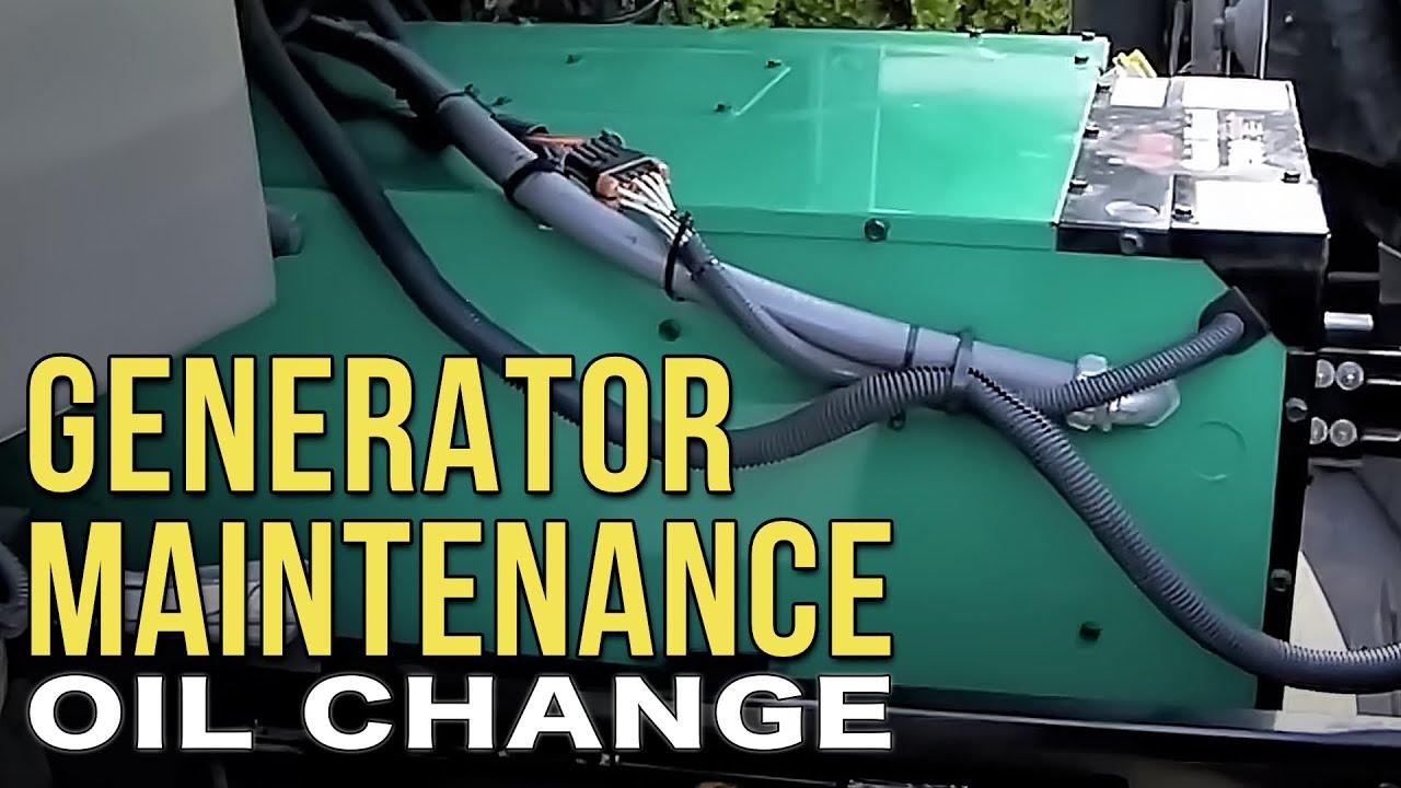 kubota generator wiring diagram household plug changing the oil in your onan diesel rv youtube