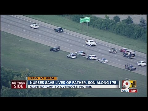Nurses save lives of father, son who overdosed along I-75