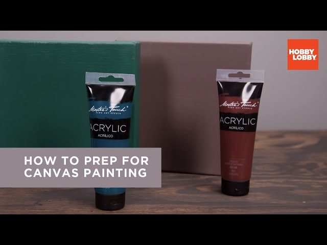 How To Prep For Canvas Painting Hobby Lobby Youtube