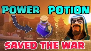 POWER POTION SAVING THE WAR FOR US,CLASH OF CLANS MAGICAL ITEMS ARE AWESOME
