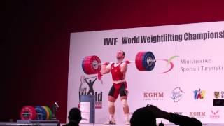 Alexandr Ivanov snatch and c&j in WWC 2013 Poland