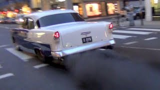1900HP Chevrolet crazy BURNOUT in central London!