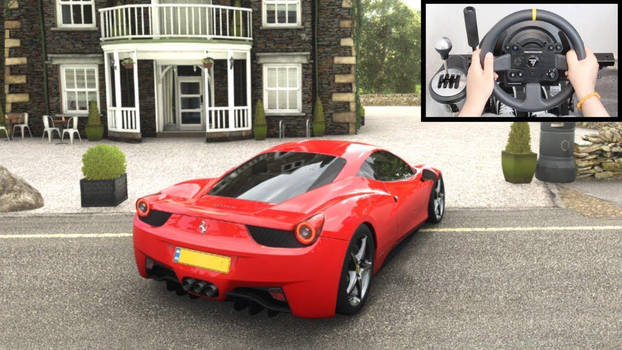 Forza Horizon 4 Ferrari 458 Italia (Steering Wheel + Paddle Shifter) Gameplay