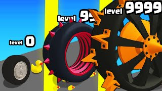 IS THIS THE HIGHEST LEVEL STRONGEST WHEEL EVOLUTION? (9999+ SIZE LEVEL) l Wheel Smash