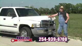 Get CASH NOW for your JUNK CAR! Budget Wrench-A-Part Self Service Auto Parts in Belton, Texas