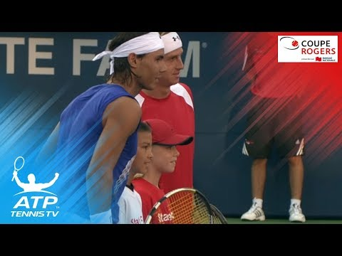 Shapovalov mascots for Nadal at Rogers Cup 2008