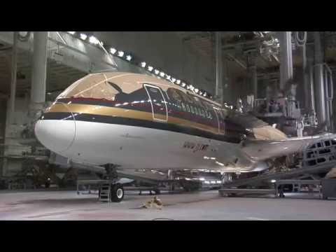 Royal Jordanian 787 Dreamliner assembly + paint (A New Chapter) (1/3)