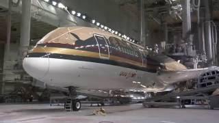 Royal Jordanian 787 Dreamliner assembly + paint (A New Chapter) (1/3)