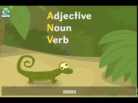Nessy Reading Strategy: Adjectives, Nouns, Verbs (Amazing Newts Vibrate)