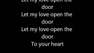 let my love open the door lyrics