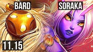 BARD \u0026 Xayah vs SORAKA \u0026 Jinx (SUPPORT) | 4/1/27, 1500+ games | EUW Challenger | v11.15