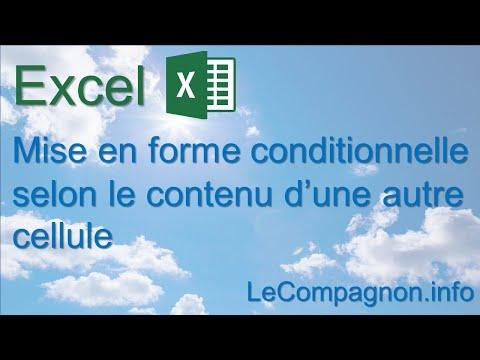 Excel - Mise en forme conditionnelle selon le contenu d'une autre cellule