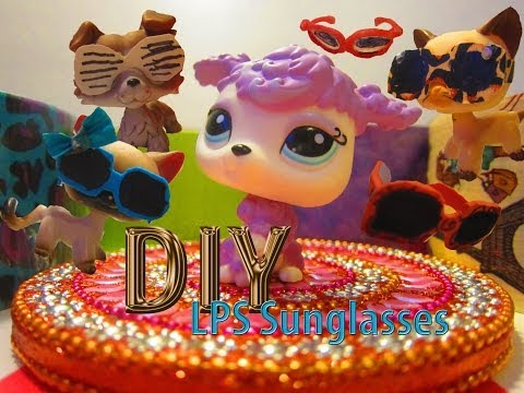 DIY LPS Sunglasses {4 styles} Including my new intro! {No printing!}