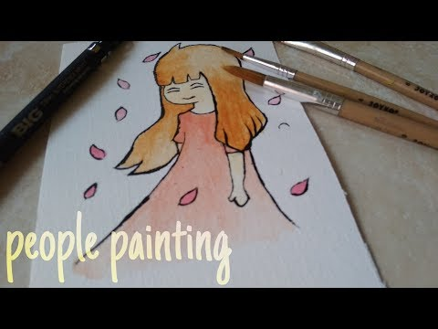 Painting people | acrilyc painting tutorial