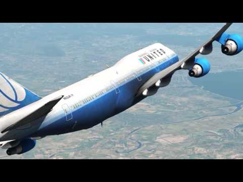 XPLANE 11747 flight - VISUAL APPROACH AND LANDINGHEATHROW (EGLL) MONACO (LFMN)