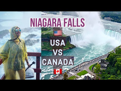 NIAGARA FALLS US Vs Canada | Which Side Is Better??? | Himani Aggarwal