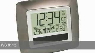 Technoline WS 8112 Solar Funk-Wanduhr Thermometer Temperaturstation