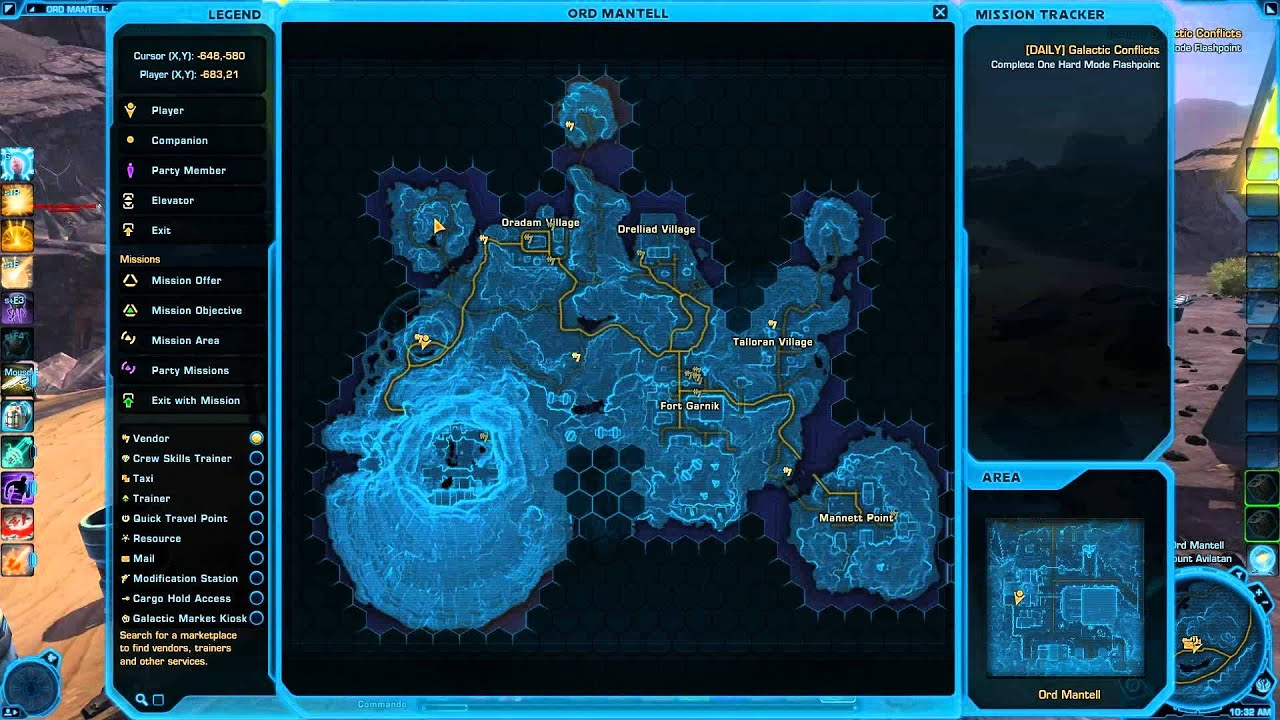 Swtor ord mantell map