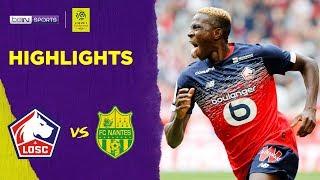 Lille 2-1 Nantes | Ligue 1 19/20 Match Highlights