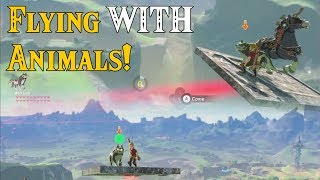 Flying WITH Animals! Wolf Link is HILARIOUS in Zelda Breath of the Wild