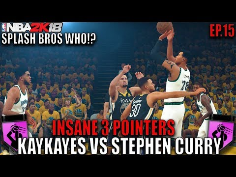SPLASH BROS WHO!? KAYKAYES VS GOLDEN STATE WARRIORS IN THE PLAYOFFS! NBA 2K18 MyCareer