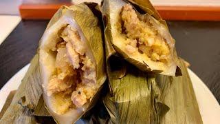 Bánh rợm mặn(bánh dày mặn) nhân thịt đậu xanh dẻo thơm hấp hẫn_Bếp Hoa