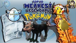 Top 10 Weakest Legendary Pokémon