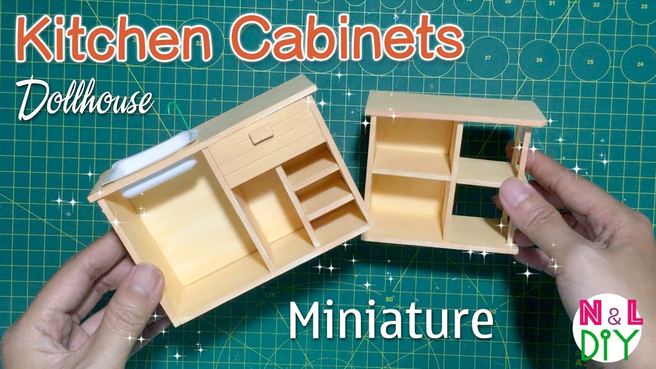 Diy Miniature Kitchen Cabinets How To Make Kitchen Cabinets For Your Dollhouse