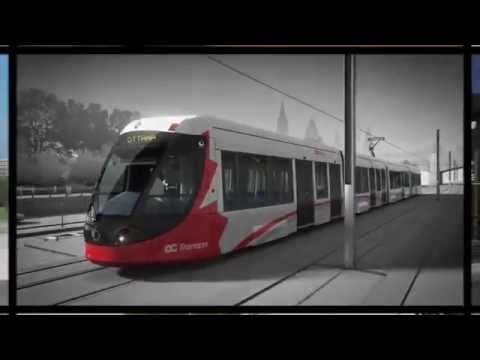 ALSTOM video of the CITADIS train, moving through a future Ottawa