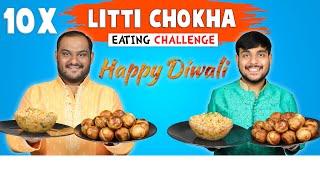 10 PLATES LITTI CHOKHA EATING CHALLENGE   Food Eating Competition   Food Challenge   Viwa Food World