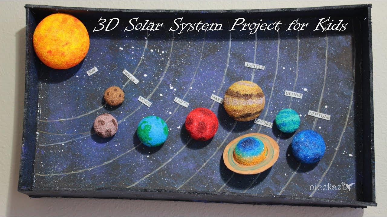 How to make 3D Solar System Project for Kids clipzuicom