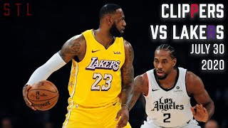 Clippers vs Lakers HIGHLIGHTS From Full Game | NBA July 30th 2020