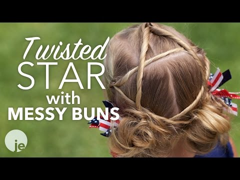 Twisted Star to Messy Buns | Holiday Hairstyles thumbnail