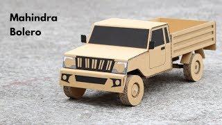 How To Make RC Mahindra Bolero Pick-up From Cardboard || Mahindra rise || Very Simple DIY