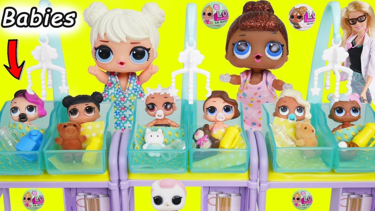 LOL Surprise Dolls get new Baby Lil Sisters - YouTube