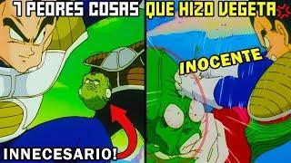 Las 7 PEORES Cosas que Vegeta de Dragon Ball Z ha Hecho