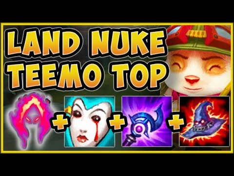 WATCH YOUR NEXT STEP! ONE SHROOM FROM LAND NUKE TEEMO BUILD IS 100% OP! League of Legends Gameplay