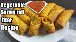 Veg Spring Roll Recipe  With Roll Sheets  Ramadan special Recipe  Evening Snack Recipe in Tamil