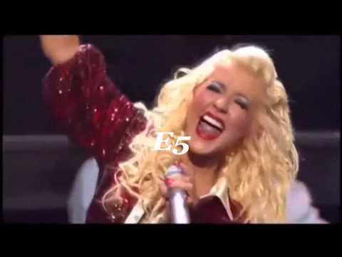 Jane Zhang(张靓颖) VS Christina Aguilera( C5-G6)note by note