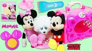 Disney Minnie Mouse Pet Carrier Pup Visits Doc McStuffins Toy Hospital!