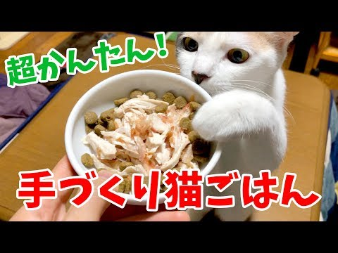 超かんたん!鶏胸肉を使って手作り猫ごはんを作ってみた