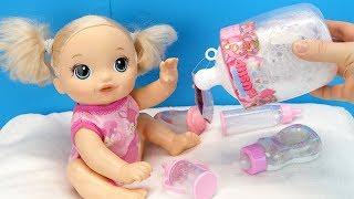 КАПРИЗУЛЕ НАДОЕЛИ ВСЕ БУТЫЛОЧКИ Кукла Беби Элайв и Смуши Муши #Сюрприз Кормим из Бутылочки