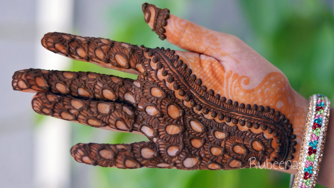 Full Hand Romantic Leaf and Floral Mehndi Design Tutorial | Front ...