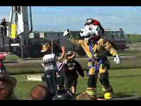 New Calgary Fire Department Sparky Mascot Youtube