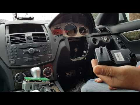 Mercedes C Class W204 Steering Lock ESL fault. No ignition, car not starting. How to repair.